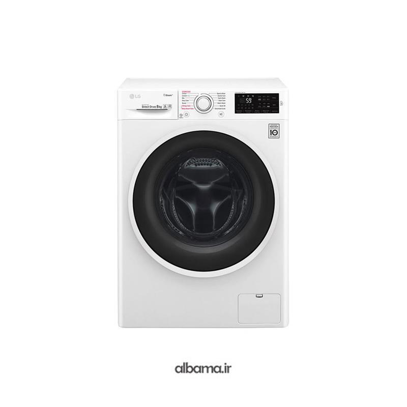 ماشین لباسشویی ال جی 8 کیلویی LG WASHING MACHINE WJ6140WTP | LG AUTOMATIC WASHING MACHINE SERIE 6 8KG 1200RPM WHITE WJ6140WTP