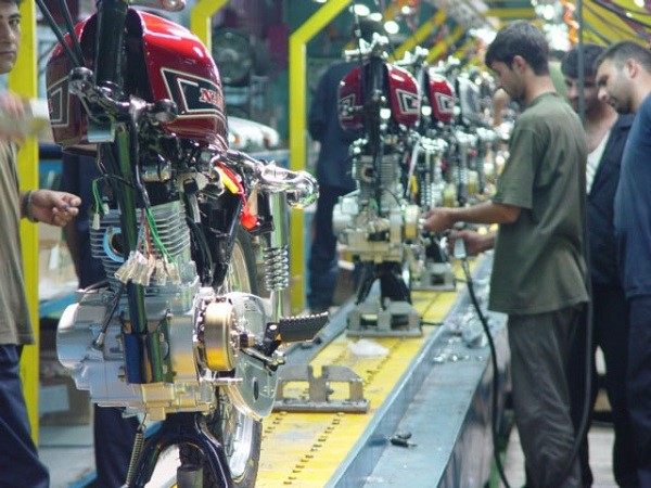 خط تولید موتورسیکلت