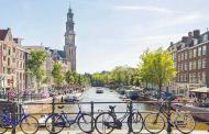 آمستردام شهر ترافیک دوچرخهسوارها
