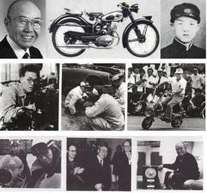 سیر تکاملی موتورسیکلت سازی در هوندا